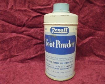 Vintage Rexall Foot Powder Tin  Good Condition