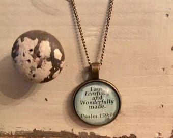 Psalm 139:14 - Scripture Necklace
