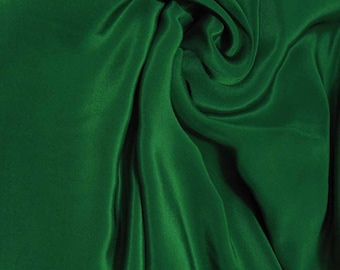 "Pure Natural Mulberry Silk Sample/ Yards/Meters Pure Silk Fabric Crepe De Chine 45"" wide 14momme amazon green color crepe-20-14mm"