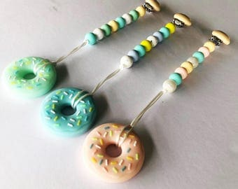 Donut Teether Clip/ Teether / Teether Chain