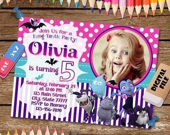 ON SALE 30% Vampirina Invitation. Vampirina Birthday Party. Vampirina Digital Invitation. Vampirina Printable.