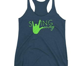 Dance Shirt: Lime Swing Swag Women's Racerback Dance Tank | Swing Swag dancer gifts for her