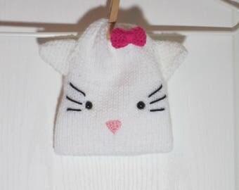 "Baby Beanie Hat Featuring ""Hello Kitty-Kat"" the Kitty"