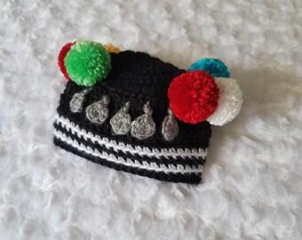 Crochet Hmong Pompom Hat