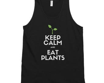 Keep Calm and Eat Plants Classic Men's Tank Top