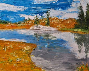 Mountain Lake, Colorado - Oil Painting