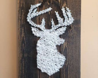 Deer Silhouette String Art, Made to Order