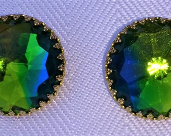 Vintage Hattie Carnegie Rivoli Clip Earrings