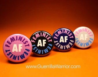 Feminist AF (1.25 inch pinback button)