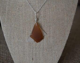 Genuine Brown Sea Glass on Celar Sea Glass