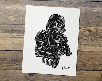 Shadowtrooper - Stormtrooper - Star Wars - Fan Art - Stormtrooper Print - Gift for Him