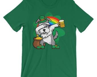 Funny Dabbing Leprechaun Schnauzer T-Shirt, St Patricks Day Shirt