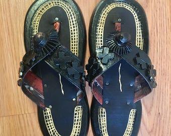 Boys Ahenema (Traditional African slipper)