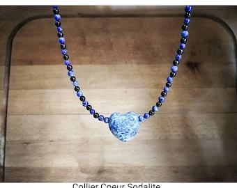 Sodalite, Lapis Lazuli necklace and black tourmaline.