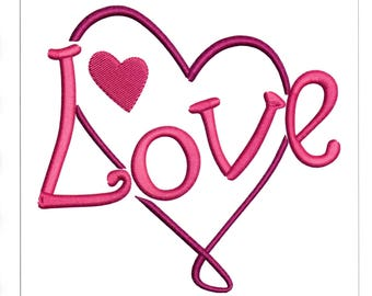Embroidery Designs Love Heart Heart with Love