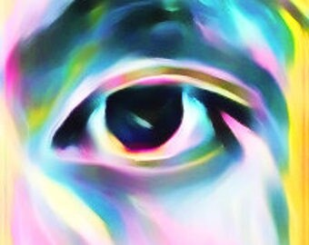 All Seing Eye Abstract Wall Art