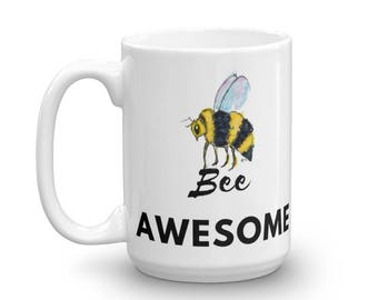 Bee Awesome Mug made in the USA