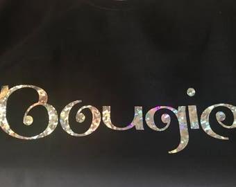 Bougie Holographic Black Sweatshirt