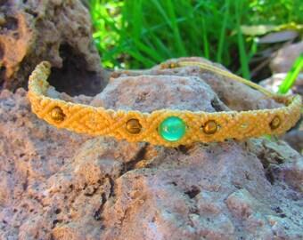 Onix bead macrame bracelet, macrame jewerly