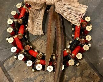 Shotgun cartridge Christmas wreath