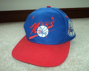 Vintage 90s Philadelphia 76ers Baseball Hat