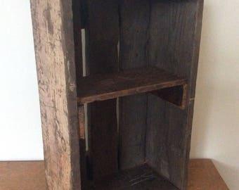 Vintage 1930's heavy duty shipping box storage/shelf unit