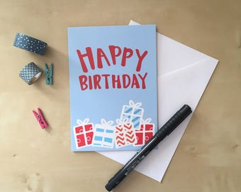 Bright Colours Birthday Cards - various designs