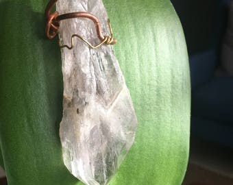 Pale purple Chevron Amethyst pendant
