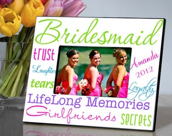 Personalized Kaleidoscope Bridesmaid Picture Frame - Bridesmaid Photo Frames - Personalized Bridesmaid Frames - Bridesmaid Picture Frames