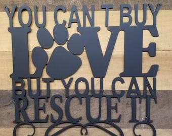 Love Rescue Dog - Steel Sign