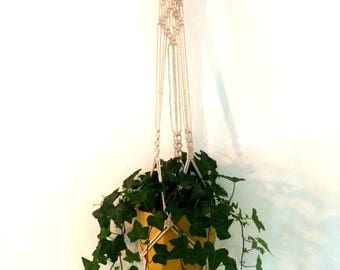 Lovely Bohemian style off white cotton hanger