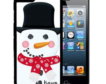 Personalized Rubber Case For iPhone X, 8, 8 plus, 7, 7 plus, 6s, 6s plus, 5, 5s, 5c, SE - Snowman