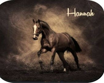 Personalized Mouse Pad - Brown Horse
