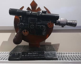 Han solo DL44 Blaster with rebel insignia stand