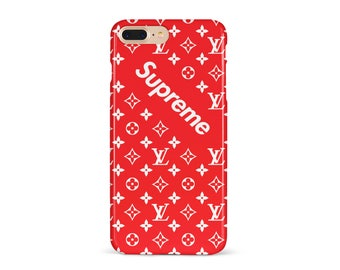 Supreme Case iPhone 7 case iPhone 8 Plus case iPhone 6S Case iPhone 6S Plus Case Iphone 7 Plus iPhone 8 Case iPhone X Case Supreme Red LV