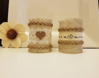 Burlap Wedding Napkin Rings, Rustic Wedding Decor, Rustic Wedding Napkin, Wedding Table Decor, Rustic Wedding, Wedding Napkin Rings
