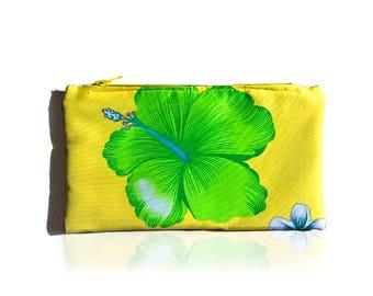 Tropical print clutch, purse