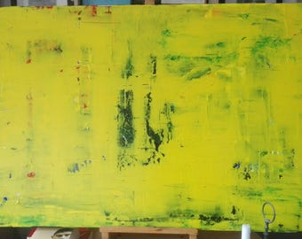Abstract acrylic painting (yellow)
