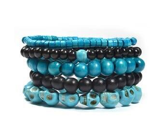 5 Pack Azure Bracelet Set