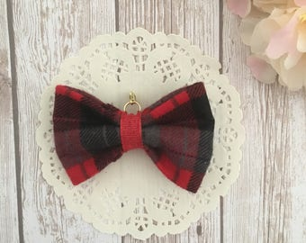 Red bow traveler's notebook bow charm