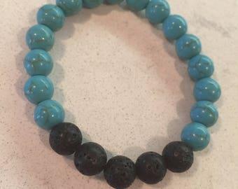 Blue Howlite Diffuser Bracelet
