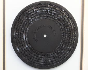 "3D printed 7"" record - Imagine - John Lennon"