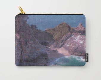 Nature Ocean Pouch, makeup bag, pencil case, cosmetic pouch, natural bag