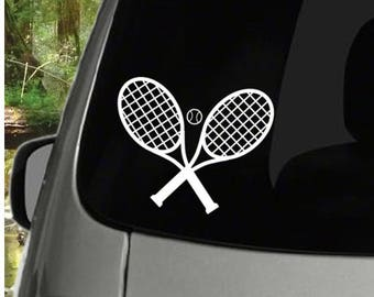 Tennis Ball and Rackets Decal