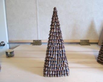 Pyramid pine cone trees