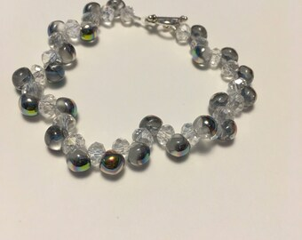 Crystal & Colorful Asymmetrical Bracelet