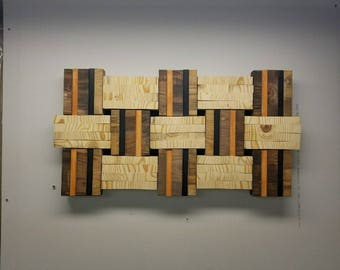Wall Hangings, Wall Sculpture, Handmade Wood Art, Wood Wall Decor, Wood  Mosaic