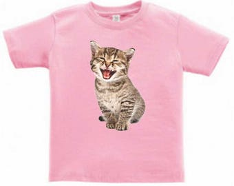 Happy Kitten Toddlers/Kids T-Shirt