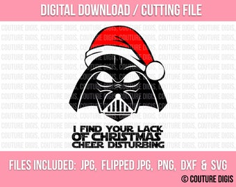 I Find Your Lack..., Star Wars Printable INSTANT DOWNLOAD,DIY,Iron-On, T-Shirt Transfer, Cut File, Silhouette Cameo, Jpeg, Png, Dxf, Svg