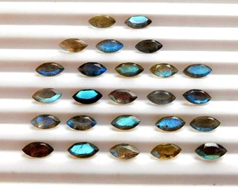 Attractive 10 pcs LABRADORITE Faceted Marquise Gemstone Faceted 4X8 MM Labradorite Marquise Gemstone Natural Labradorite Faceted Loose Gems
